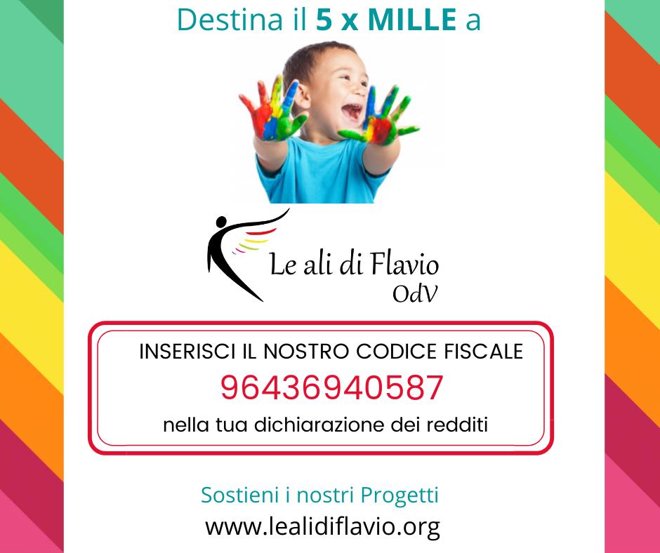 5 per mille - Le Ali di Flavio ODV